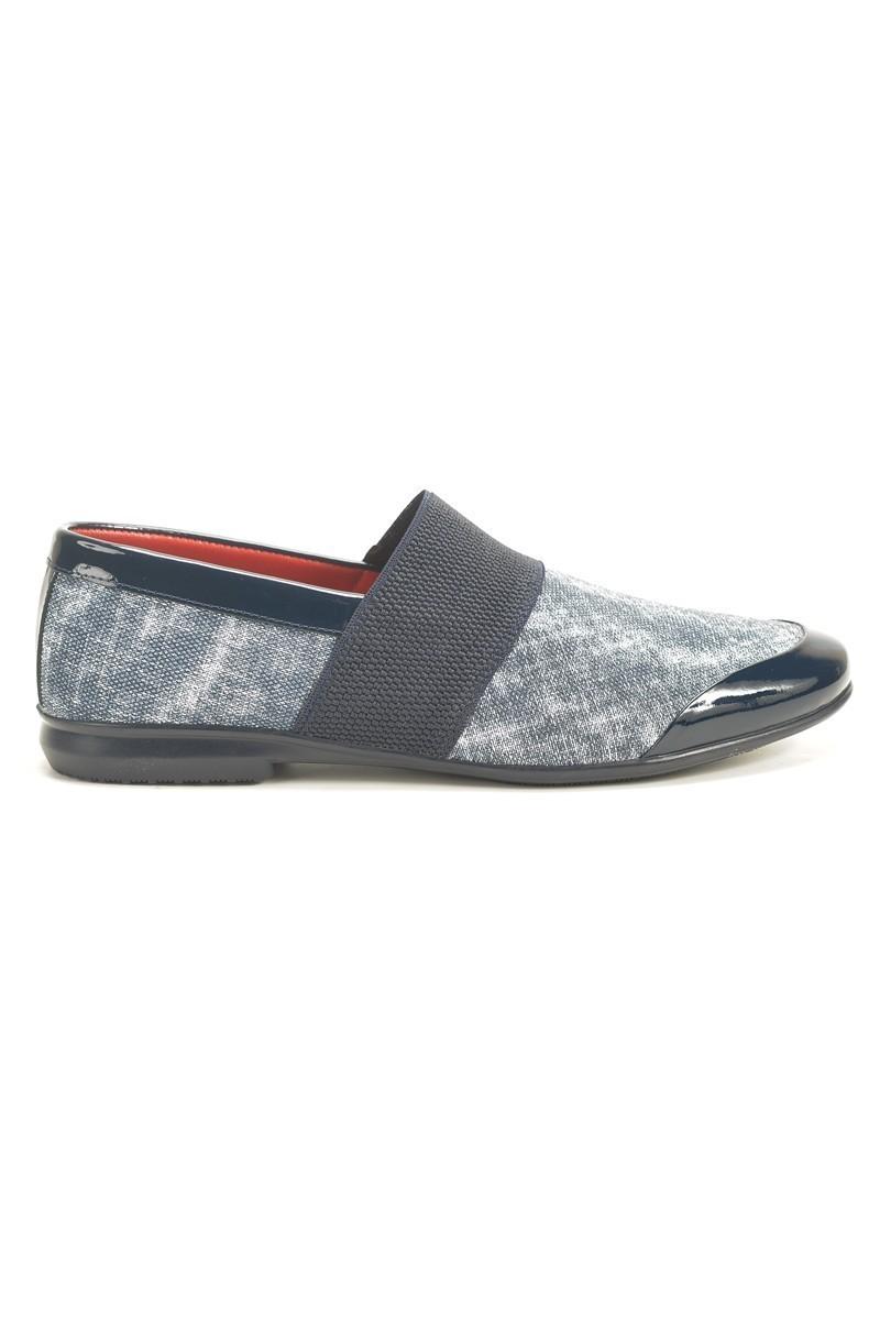Chaos Lacivert TS-059 Hakiki Deri Erkek Ayakkabı