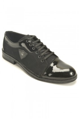 Polomen Siyah PLM-1064 Erkek Ayakkabı