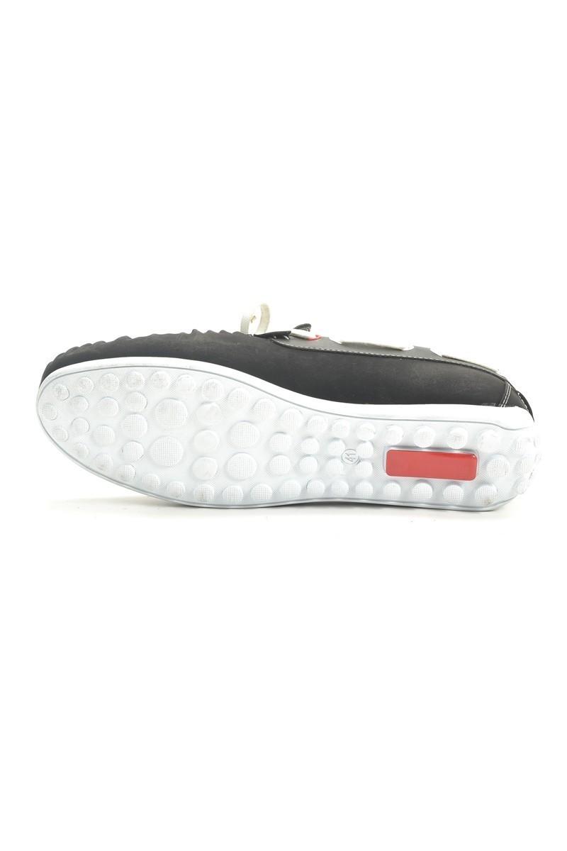 Madeno Siyah-Beyaz MDN-3005 Erkek Ayakkabı