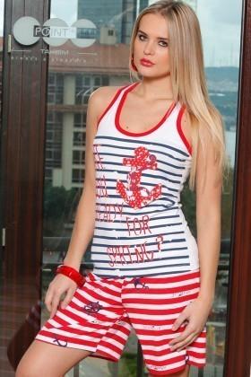 Lady Lingerie Karışık Renkli LL-3859 Bayan Pijama