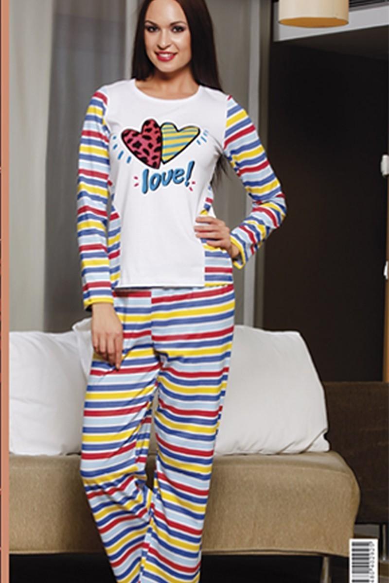 Lady Lingerie Karışık Renkli LL-9145 Bayan Pijama