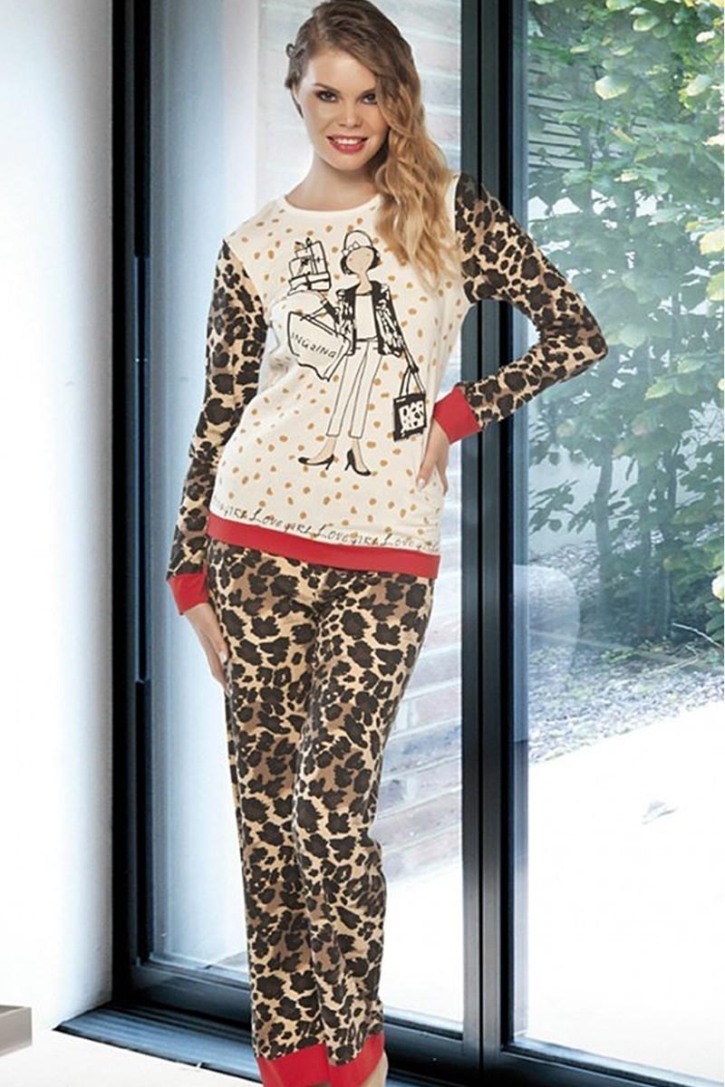 Lady Lingerie Leopar LL-9211 Bayan Pijama