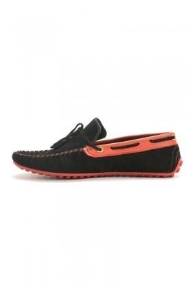 BLUESOIL Siyah-Kırmızı BS-2525-SUET Hakiki Deri Erkek Ayakkabı