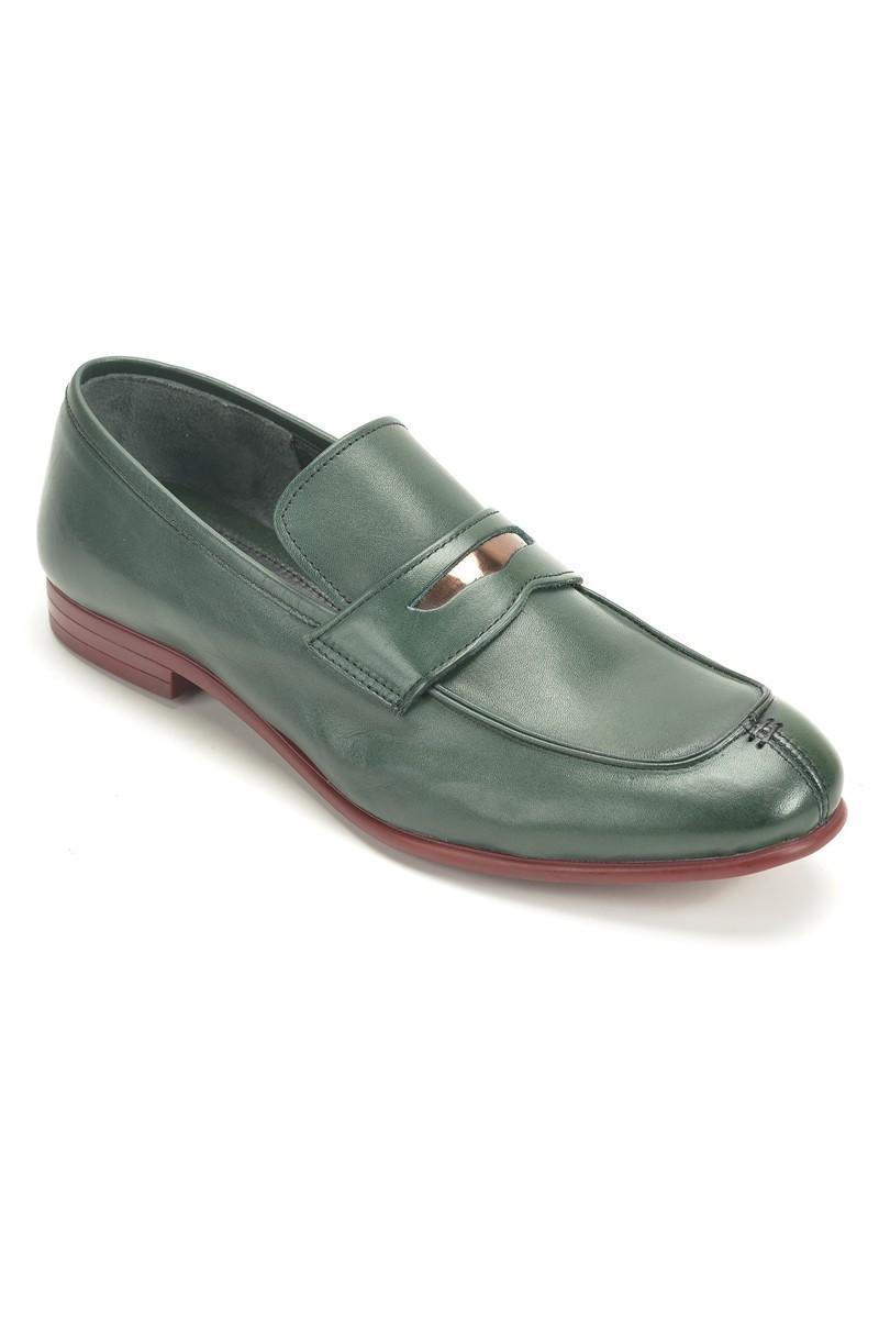 Chaos Yeşil TS-2100 Hakiki Deri Erkek Ayakkabı