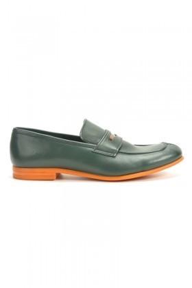 Chaos Yeşil-Turuncu TS-2100 Hakiki Deri Erkek Ayakkabı