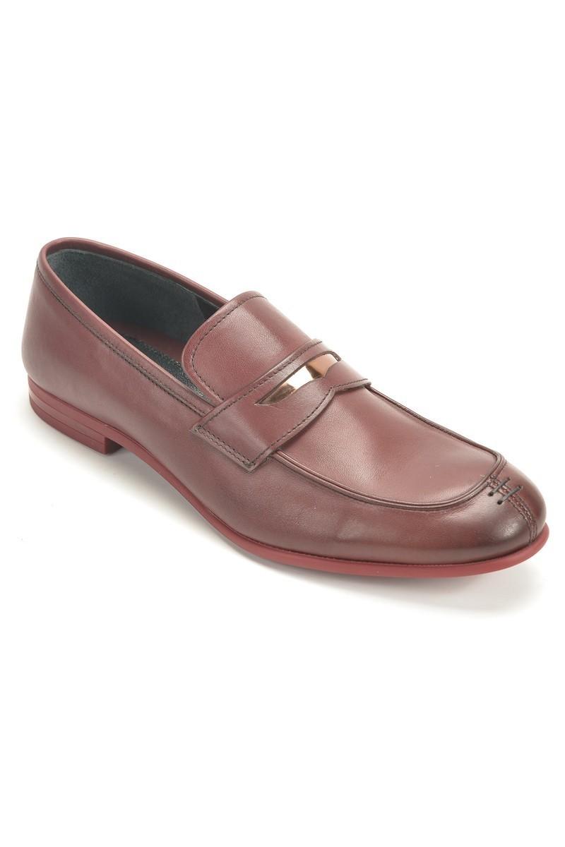 Chaos Bordo TS-2100 Hakiki Deri Erkek Ayakkabı