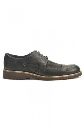 Three Star Siyah TS-2077 Hakiki Deri Erkek Ayakkabı