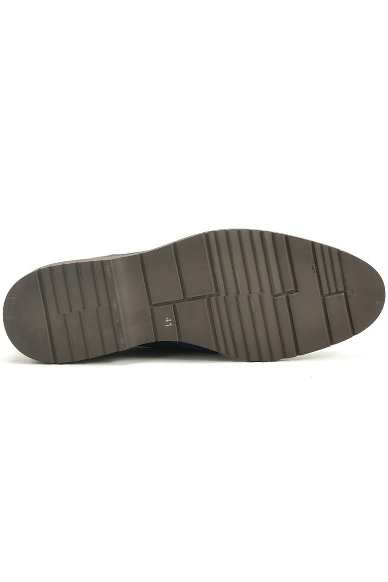 Three Star Lacivert TS-2077 Hakiki Deri Erkek Ayakkabı