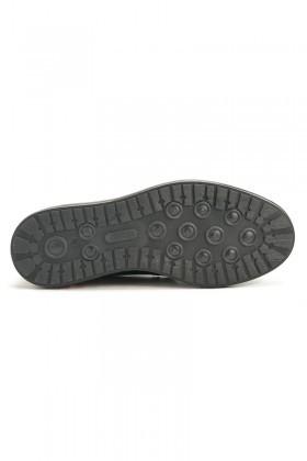 Three Star Siyah TS-2057 Hakiki Deri Erkek Ayakkabı