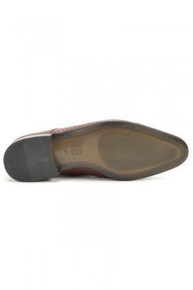 Paul Mark Bordo PM-057 Hakiki Deri Erkek Ayakkabı
