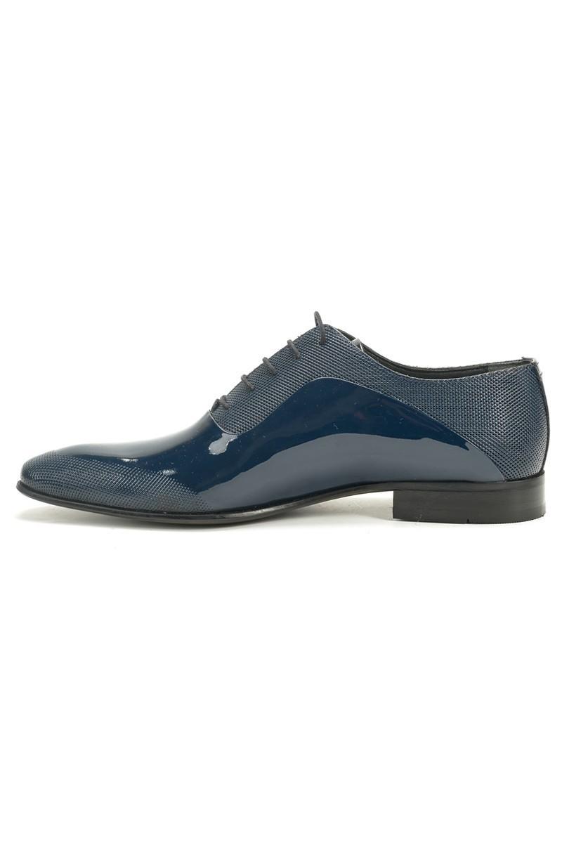 Chaos Lacivert TS-037 Hakiki Deri Erkek Ayakkabı