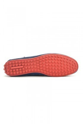 BLUESOIL Mavi-Kırmızı BS-2525-SUET Hakiki Deri Erkek Ayakkabı