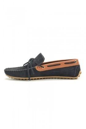 BLUESOIL Lacivert-Taba BS-2525-SUET Hakiki Deri Erkek Ayakkabı