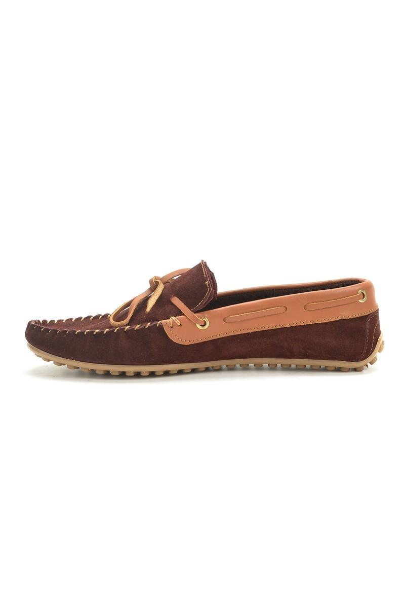 BLUESOIL Bordo-Taba BS-2525-SUET Hakiki Deri Erkek Ayakkabı
