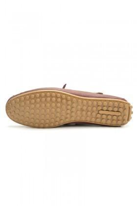 BLUESOIL Bordo-Taba BS-2525 Hakiki Deri Erkek Ayakkabı