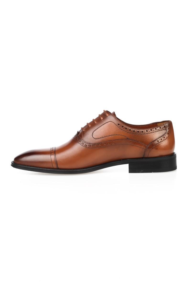 Chaos Taba TS-049 Hakiki Deri Erkek Klasik Ayakkabı