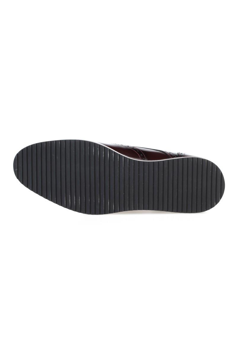 Chaos Bordo TS-2037 Hakiki Deri Erkek Ayakkabı