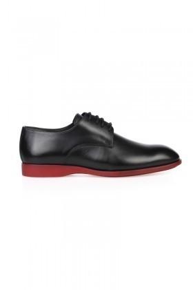 Chaos Siyah TS-2025 Hakiki Deri Erkek Klasik Ayakkabı
