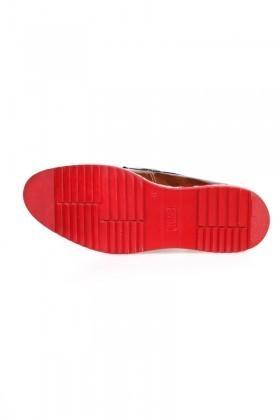 Chaos Taba-Lacivert-Bordo TS-1536-TABA-BORDO Hakiki Deri Erkek Ayakkabı