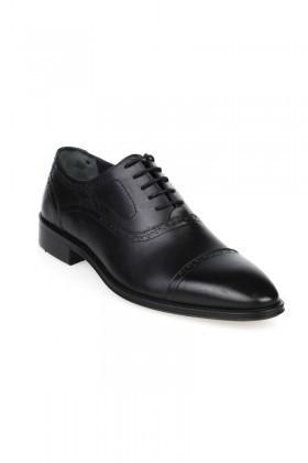 Chaos Siyah TS-049 Hakiki Deri Erkek Klasik Ayakkabı