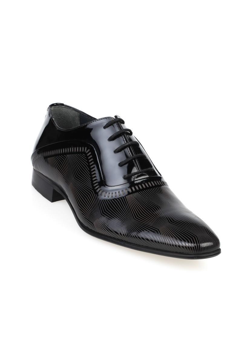 Chaos Siyah TS-038 Hakiki Deri Erkek Klasik Ayakkabı
