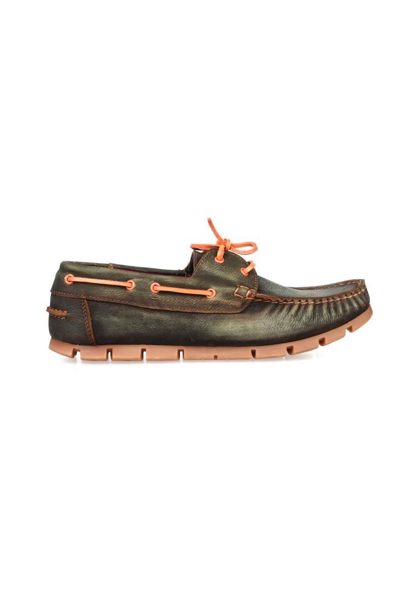 Pandew Koyu Yeşil PNDW-799 Hakiki Deri Erkek Ayakkabı
