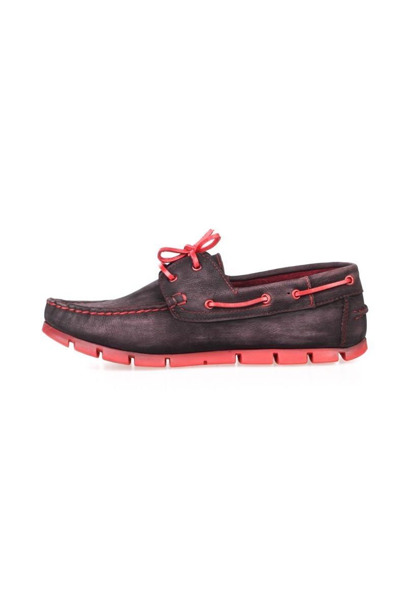 Pandew Siyah-Kırmızı PNDW-799 Hakiki Deri Erkek Ayakkabı
