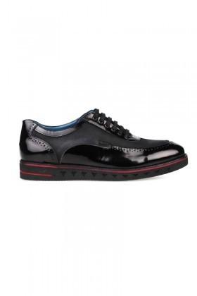 Pandew Siyah PNDW-75 Hakiki Deri Erkek Ayakkabı