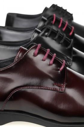Chaos Bordo TS-2025 Hakiki Deri Erkek Klasik Ayakkabı