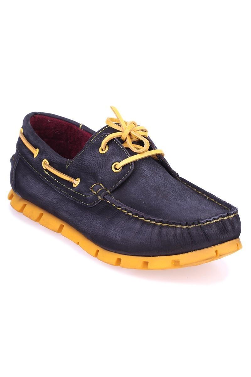 Pandew Siyah-Sarı PNDW-799 Hakiki Deri Erkek Ayakkabı