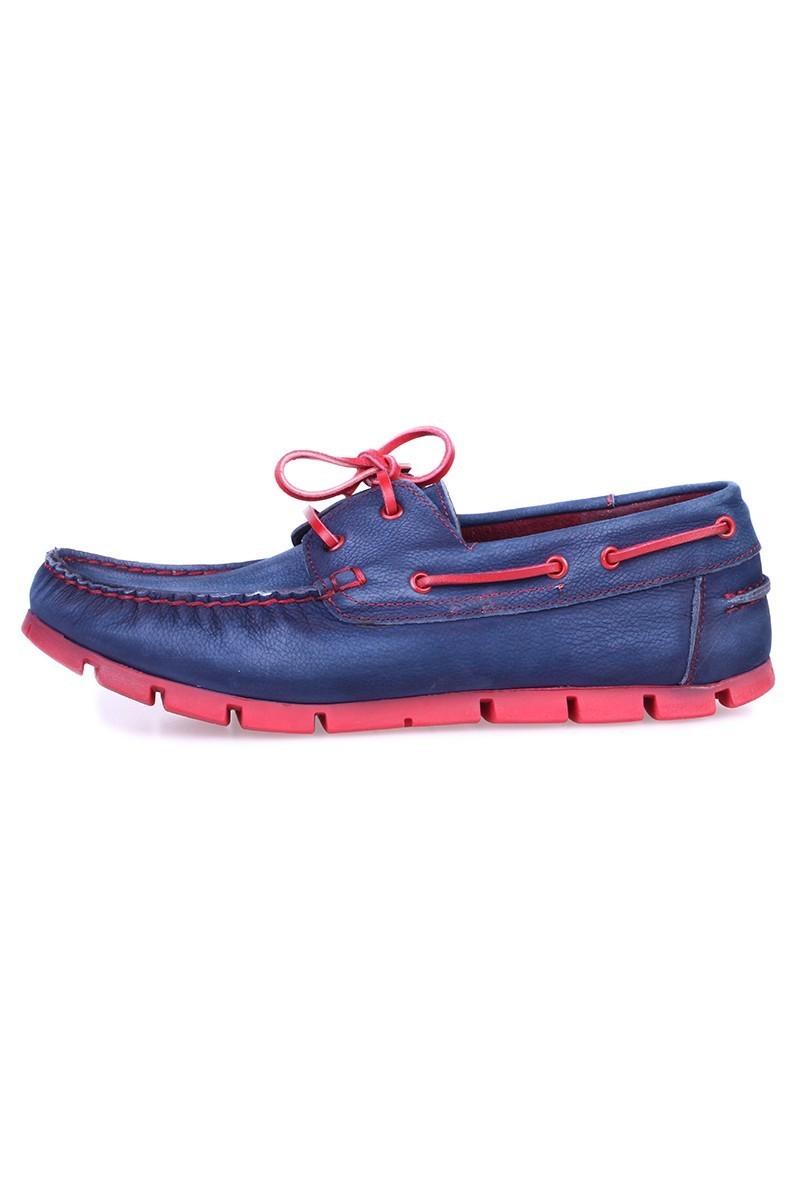 Pandew Mavi-Kırmızı PNDW-799 Hakiki Deri Erkek Ayakkabı