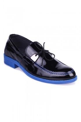 BLUESOIL Siyah-Mavi BS-1070 Erkek Ayakkabı