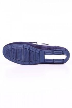Bravelli Lacivert-Beyaz BRVL-FR-BAG Hakiki Deri Erkek Ayakkabı