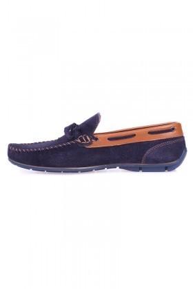 Bravelli Lacivert-Taba BRVL-FR-BAG Hakiki Deri Erkek Ayakkabı