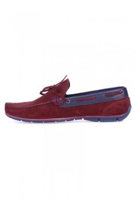 Pandew Bordo-Lacivert BRVL-FR-BAG01 Hakiki Deri Erkek Ayakkabı