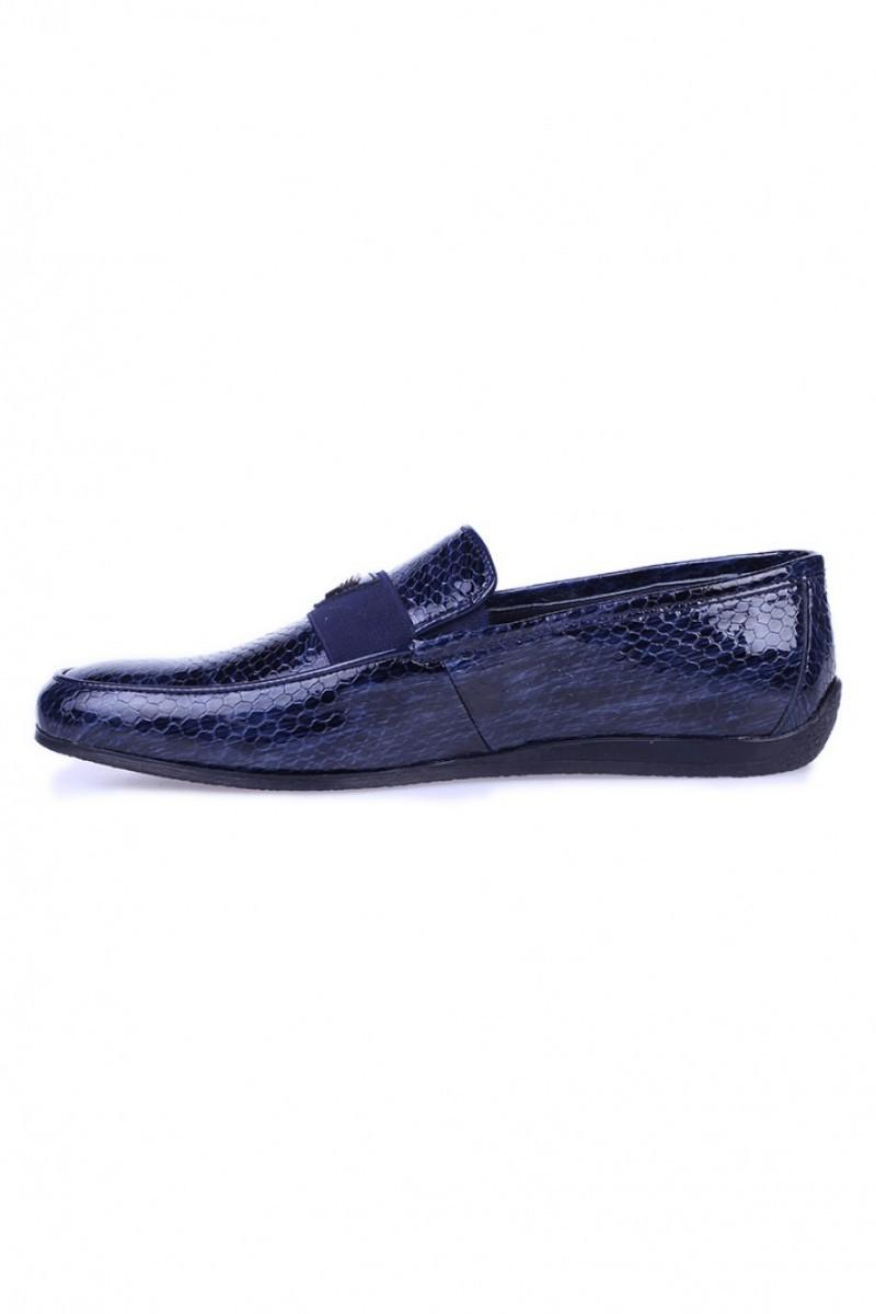 Chaos Lacivert TS-04 Hakiki Deri Erkek Ayakkabı