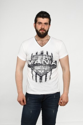 MTT Beyaz MTT-553 Erkek Tişört