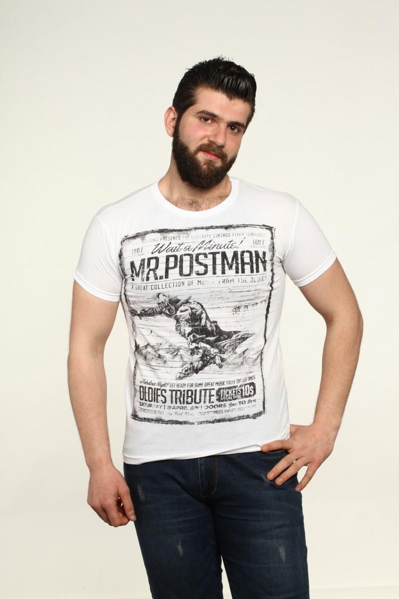 MTT Beyaz MTT-548 Erkek Tişört