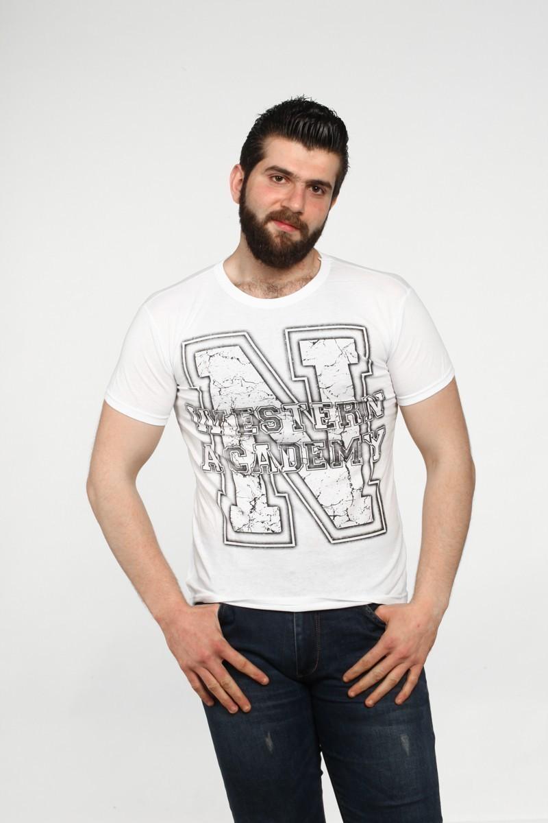 MTT Beyaz MTT-542 Erkek Tişört