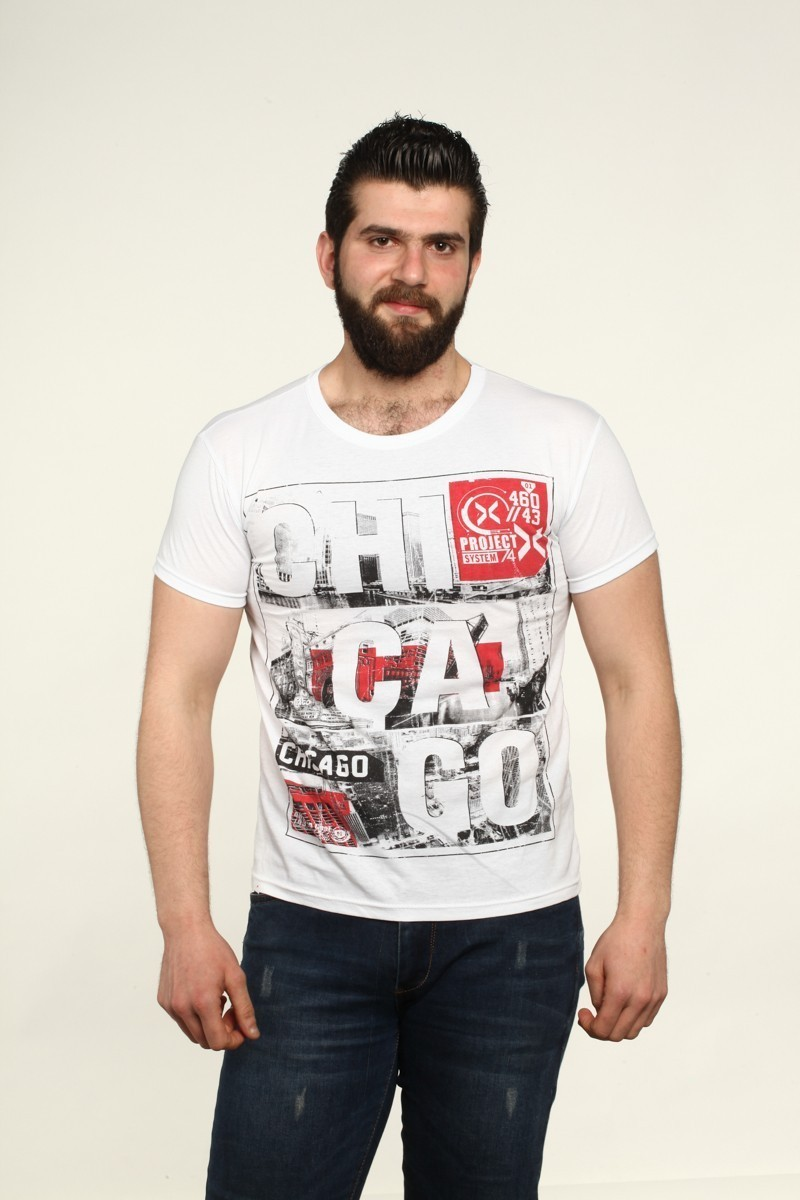 MTT Beyaz MTT-541 Erkek Tişört