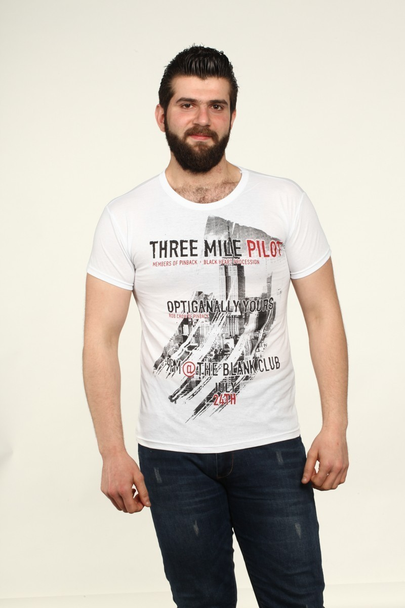 MTT Beyaz MTT-540 Erkek Tişört