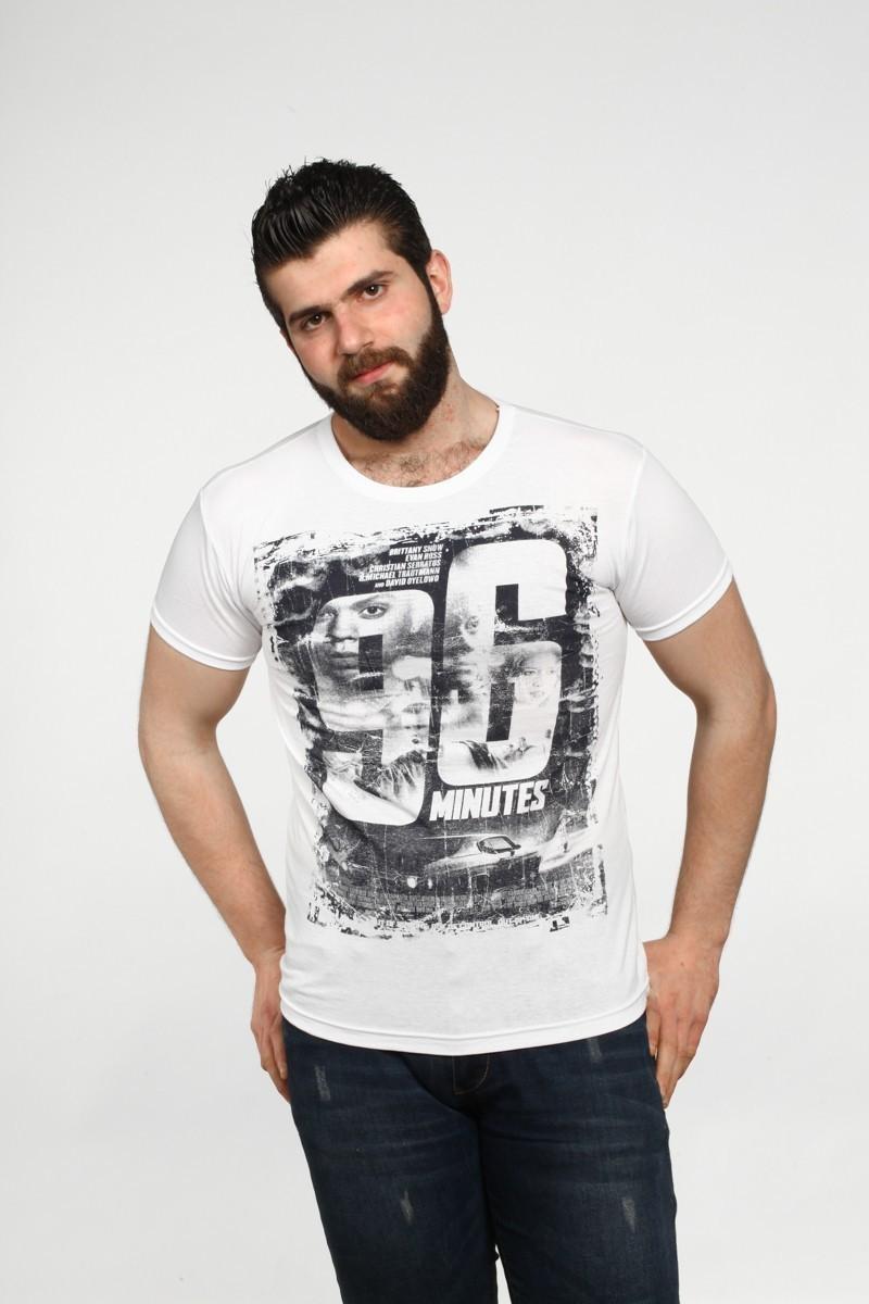 MTT Beyaz MTT-534 Erkek Tişört