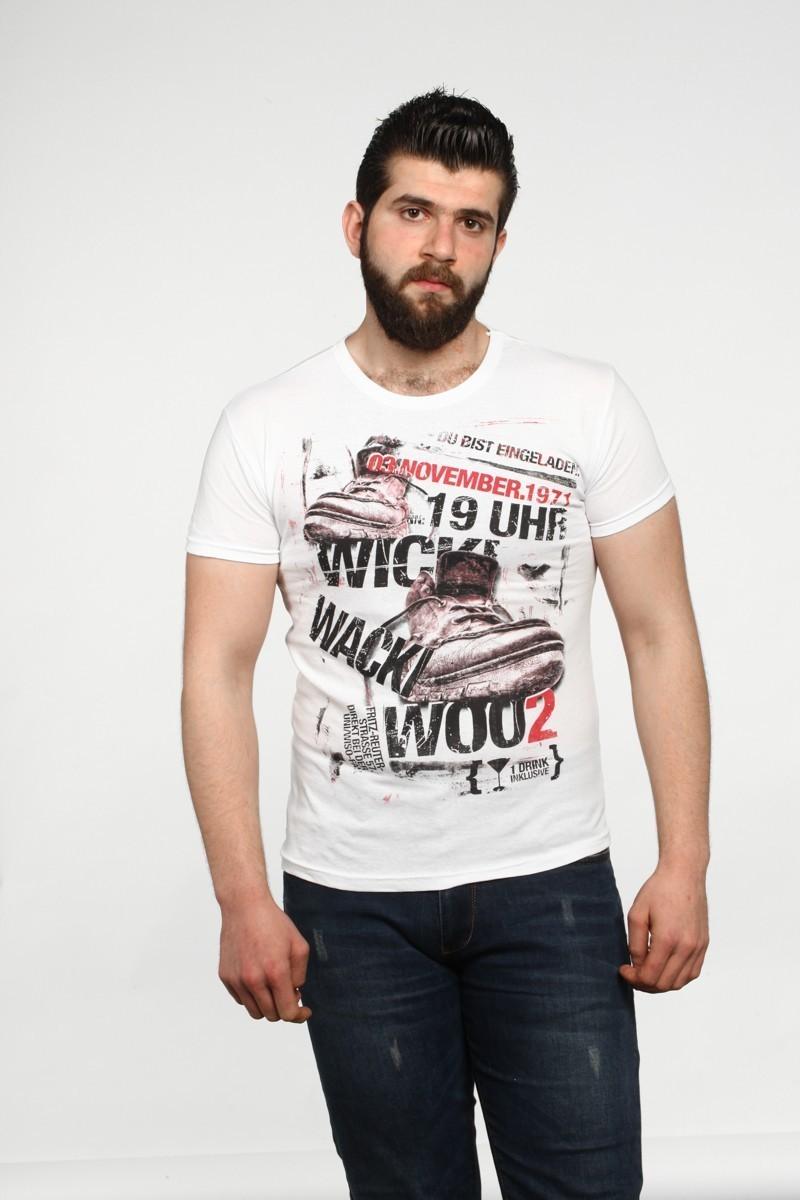 MTT Beyaz MTT-531 Erkek Tişört