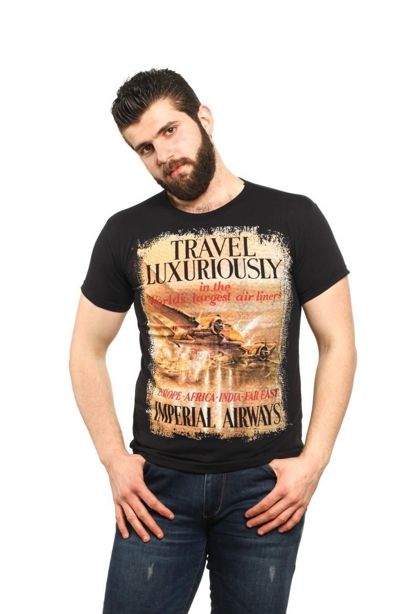 MTT Siyah MTT-524 Erkek Tişört