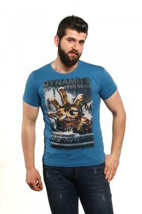 MTT Mavi MTT-529 Erkek Tişört