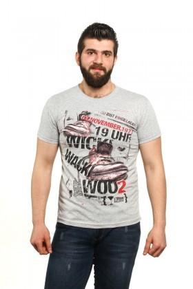 MTT Gri MTT-527 Erkek Tişört