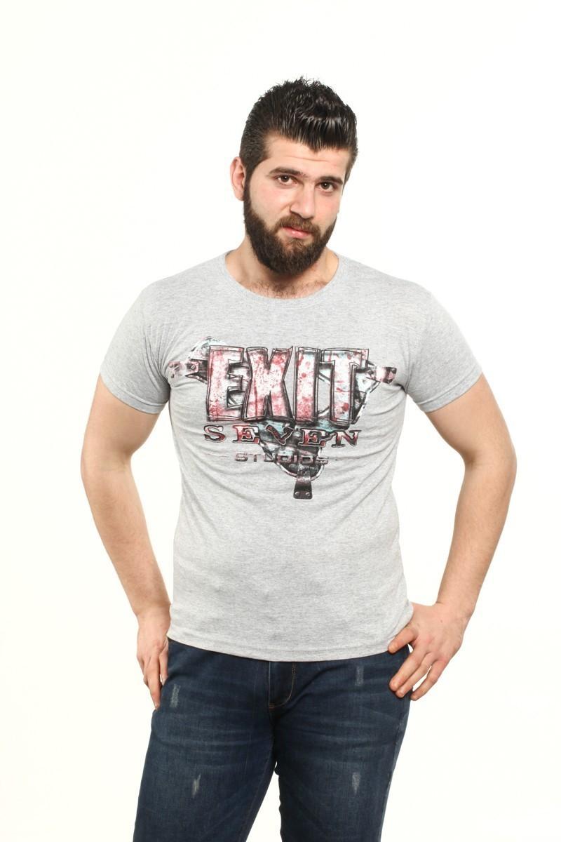 MTT Gri MTT-526 Erkek Tişört
