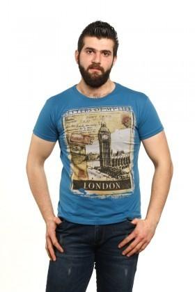 MTT Mavi MTT-522 Erkek Tişört