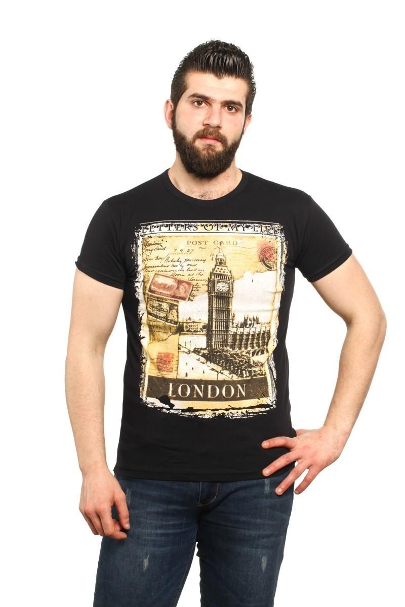 MTT Siyah MTT-521 Erkek Tişört