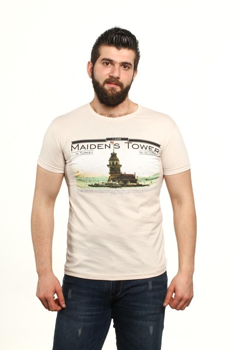 MTT Bej MTT-520 Erkek Tişört